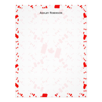 Canada Flag in Multiple Colorful Layers Askew Customized Letterhead