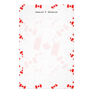 Canada Flag in Multiple Colorful Layers Askew Stationery Paper