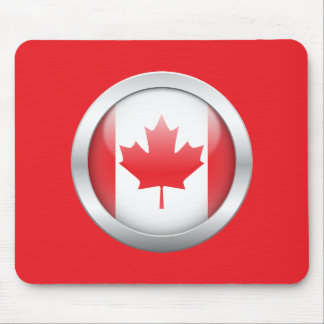 Canada Flag in Orb Mouse Pad