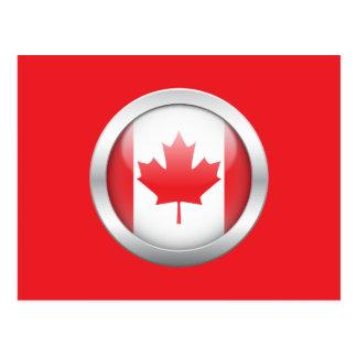 Canada Flag in Orb Postcard