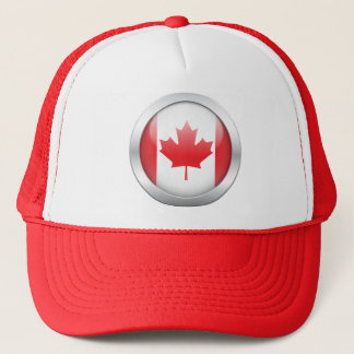Canada Flag in Orb Trucker Hat