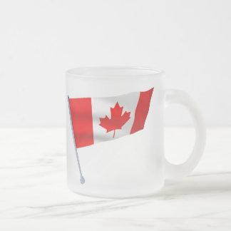 Canada flag in the wind mug