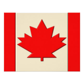 Canada Flag Personalized Announcement
