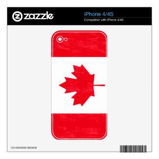 CANADA FLAG iPhone Skin Skins For iPhone 4