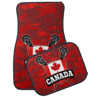 Canada Flag Lacrosse Logo Car Floor Mat