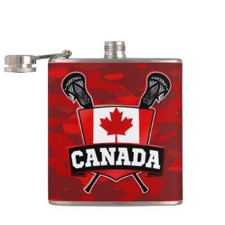 Canada Flag Lacrosse Logo Flask