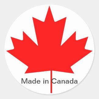 Canada flag, made in Canada Classic Round Sticker