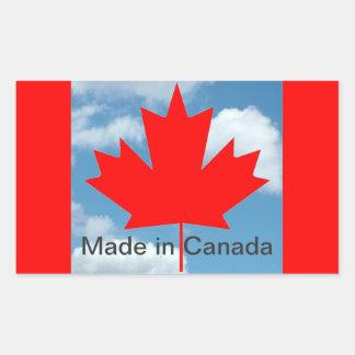 Canada flag, made in Canada Rectangular Sticker