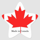 Canada flag, made in Canada Stickers