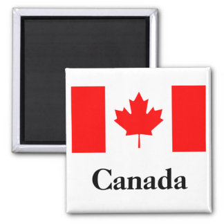 Canada Flag 2 Inch Square Magnet