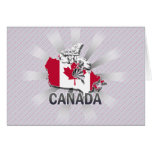 Canada Flag Map 2.0 Greeting Card