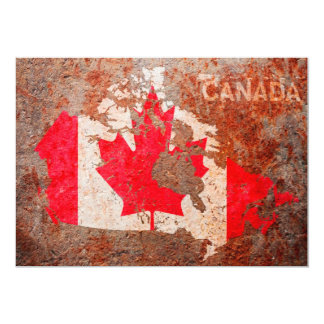 Canada Flag map 5x7 Paper Invitation Card