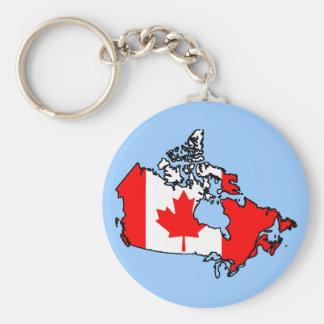 canada flag map basic round button keychain