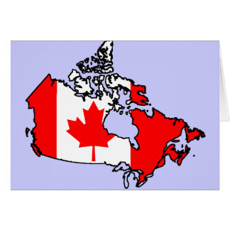 canada flag map card