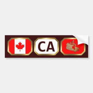 Canada Flag Map Code Bumper Sticker