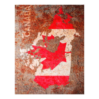 Canada Flag map Personalised Flyer