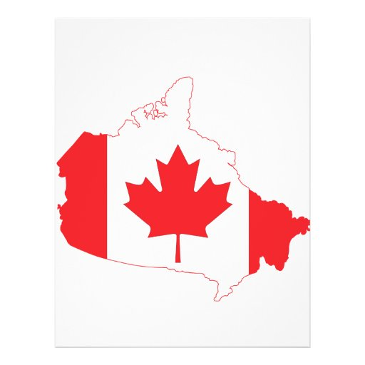 Canada Flag Map Flyer Design