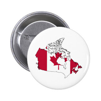 Canada Flag Map full size Pinback Button