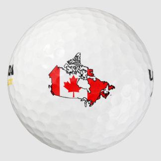 canada flag map golf balls