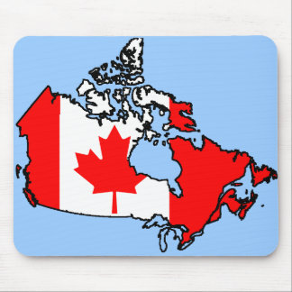 canada flag map mouse pad