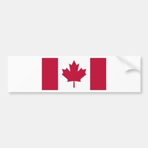 Canada Flag Maple Leaf design Bumper Stickers
