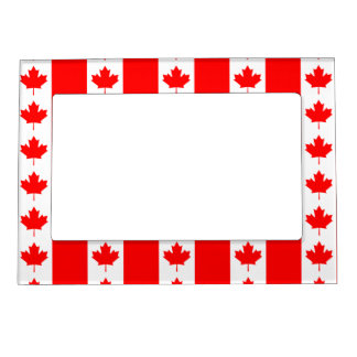 Canada Flag Maple Leaf O Canada Nation Symbol Icon Magnetic Picture Frame