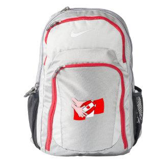 Canada Flag Maple leaf Rugby Ball Backpack