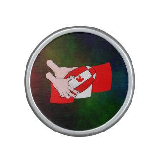 Canada Flag Maple leaf Rugby Ball Speaker