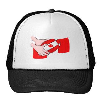 Canada Flag Maple leaf Rugby Ball Trucker Hat