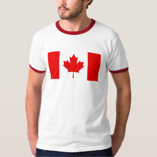 Canada Flag Mens Ringer Shirt
