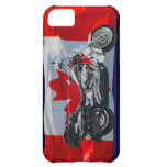 Canada Flag & Motorcycle Patriotic Phone Case iPhone 5C Cover