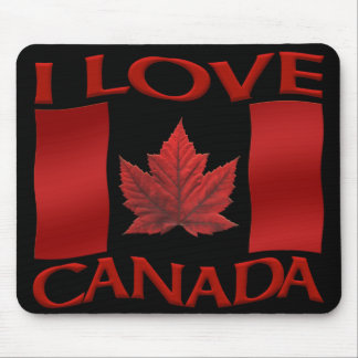 Canada Flag Mousepad I Love Canada  Mousepad