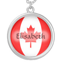 Canada Flag   Name Necklace