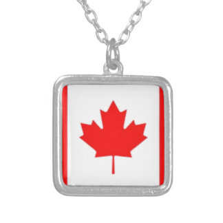 Canada Flag Personalized Necklace
