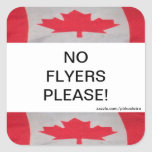 Canada Flag No Flyers Please Sticker