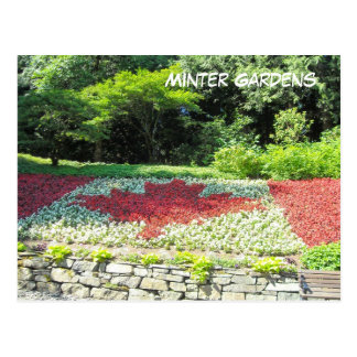 Canada Flag of Flowers Post Card