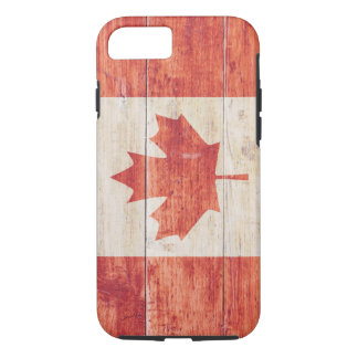 Canada Flag on Wood iPhone 7 Case