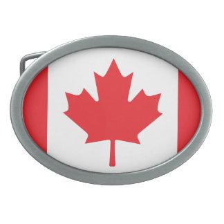 Canada Flag Oval Belt Buckle