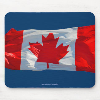 CANADA FLAG Patriotic Canadian Mousepad