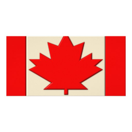 Canada Flag Personalized Photo Card