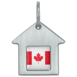 CANADA FLAG PET NAME TAG