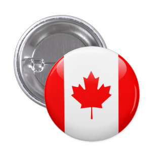 Canada Flag Pinback Button