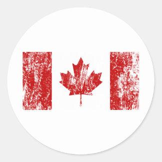 Canada Flag Pride Classic Round Sticker