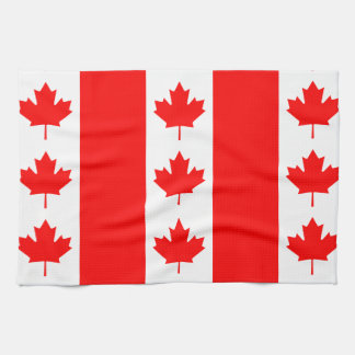 Canada Flag Proudly Canadian Oh Canada! Nation Kitchen Towels