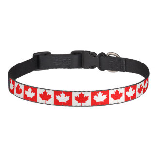Canada flag quality pet collar