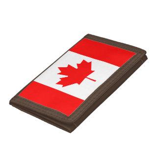 Canada flag quality tri-fold wallet