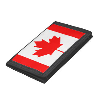 Canada flag quality trifold wallet