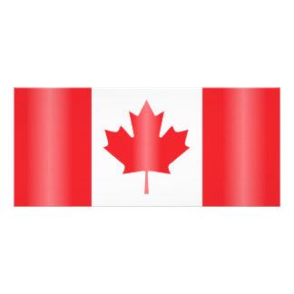 Canada flag rack card