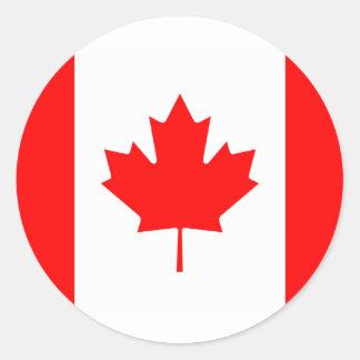 Canada Flag Round Stickers