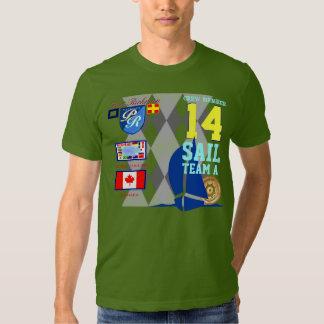 Canada Flag Sailing Number 14 Argyle T Shirt